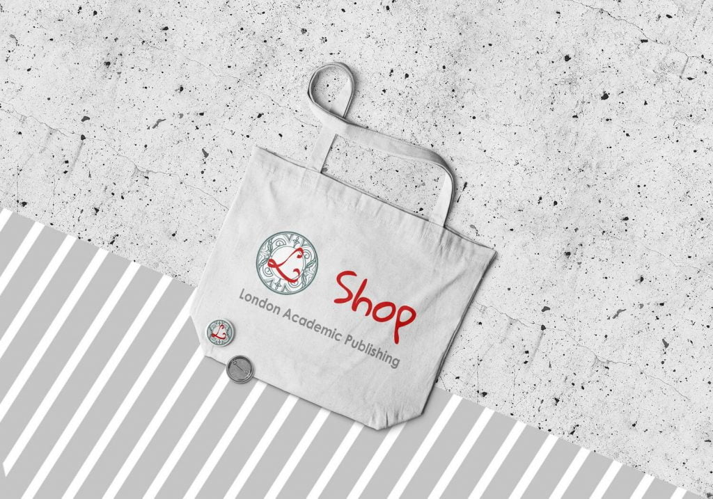 shopping bag. logo. London Academic Publishing
